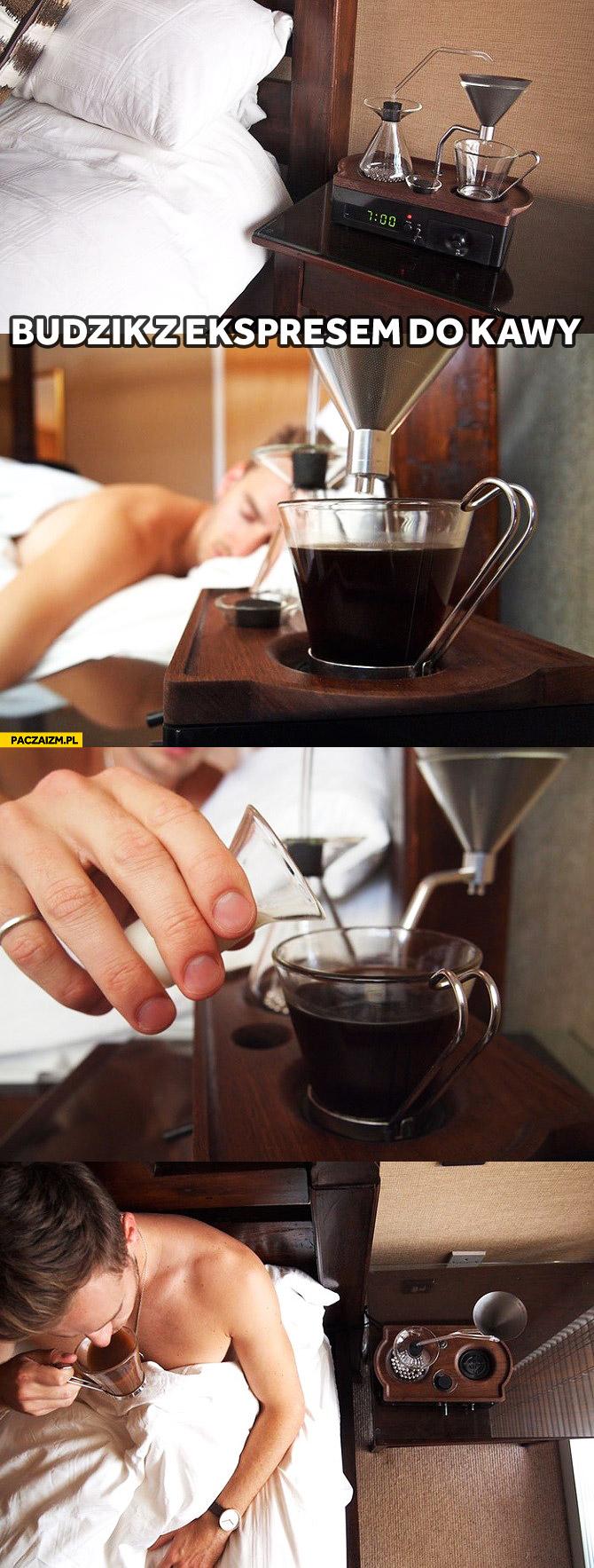 Budzik z ekspresem do kawy