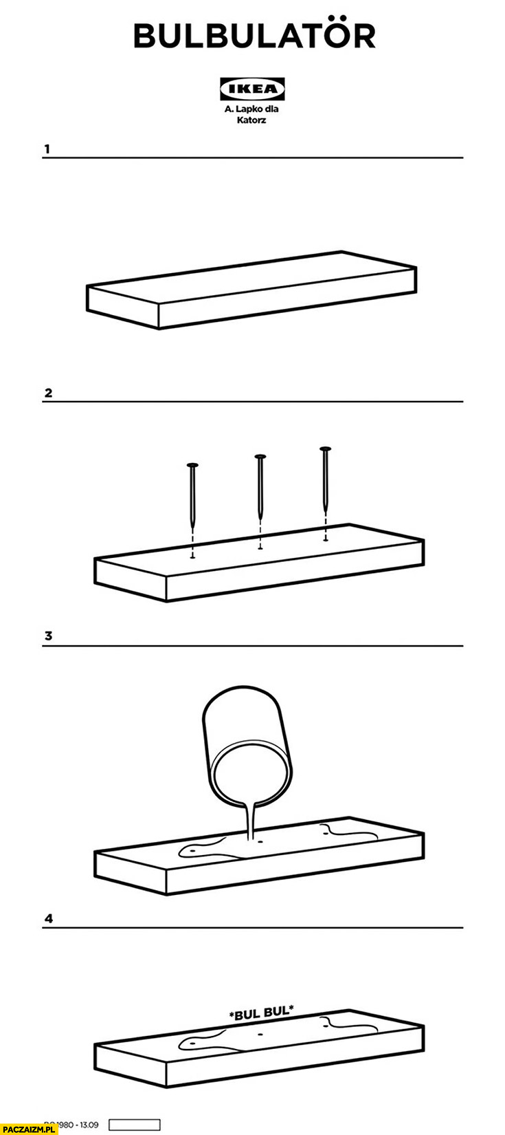 Bulbulator Ikea produkt schemat