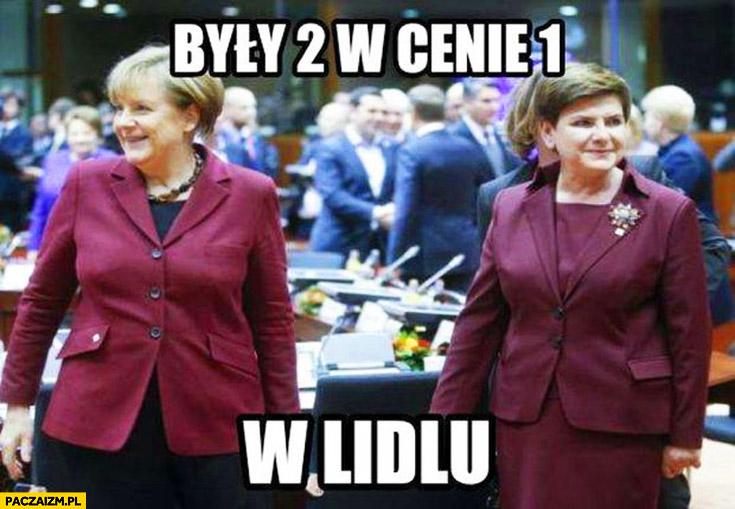 Były 2 w cenie 1 w Lidlu Merkel Szydło bordowy purpurowy strój kostium