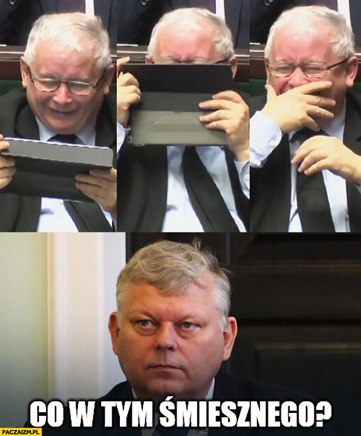 Carowa Katarzyna Marek Suski Kaczyński się śmieje. Co w tym śmiesznego?