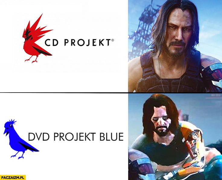 CD Projekt red vs DVD projekt blue porównanie