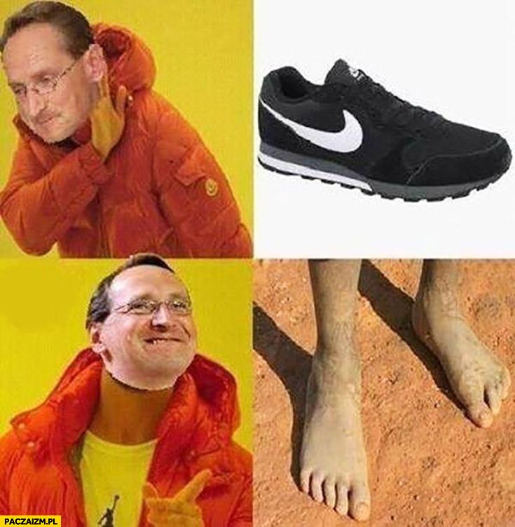 Cejrowski buty Nike Najki nie chce gołe stopy Drake