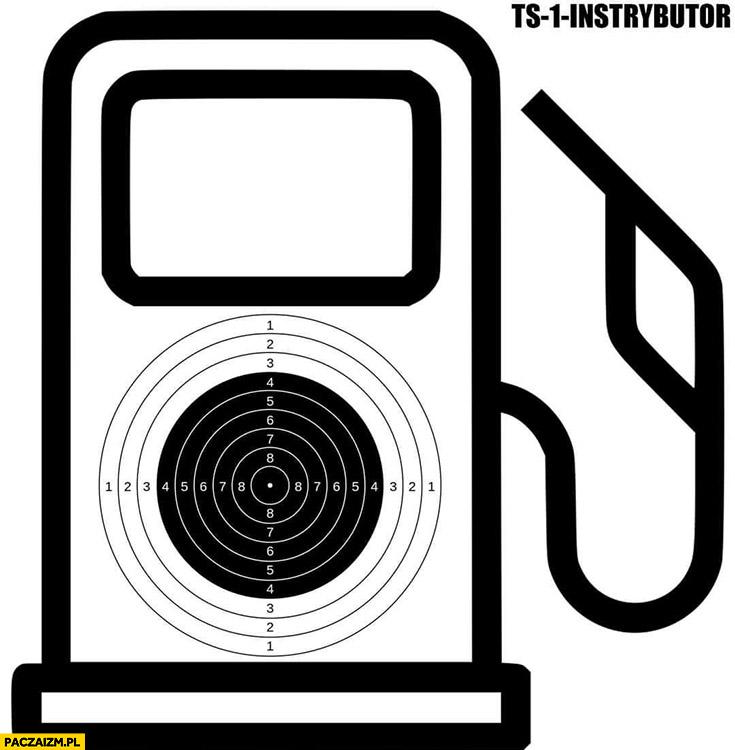 Cel tarcza strzelecka instrybutor dystrybutor paliwa na Orlenie