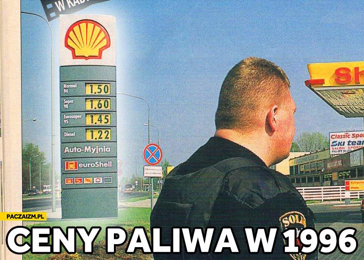 Ceny paliw w 1996 w Polsce