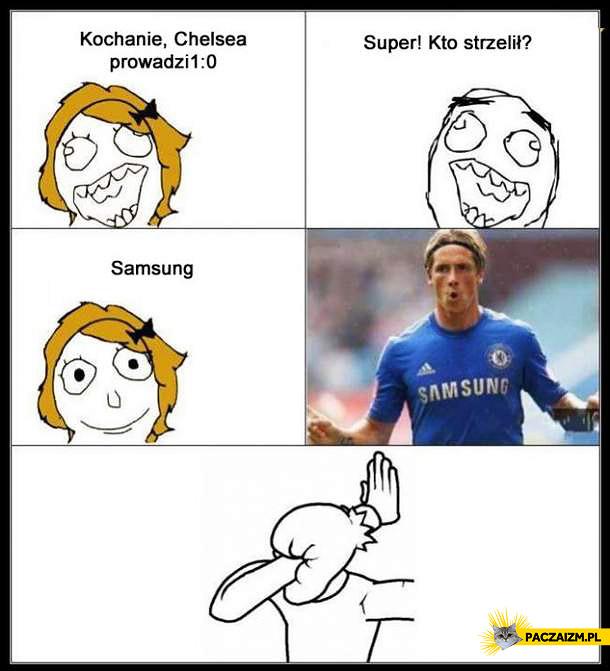 Chelsea, kto strzelił? Samsung