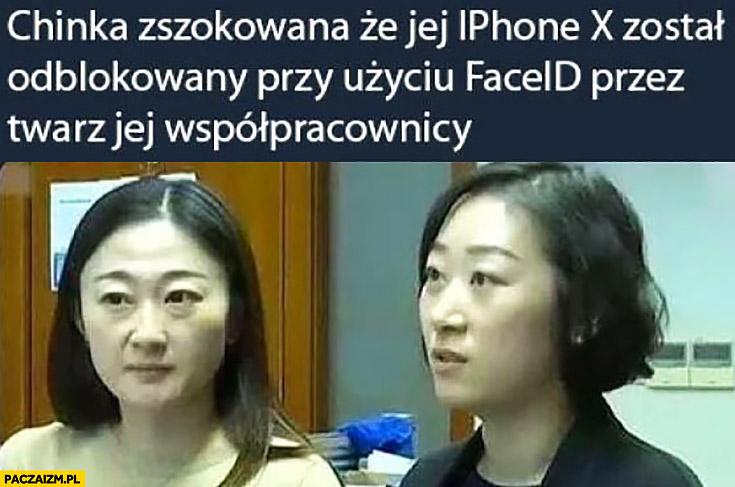 Chinka zszokowana ze jej iPhone X został odblokowany przy użyciu faceid przez twarz jej współpracownicy