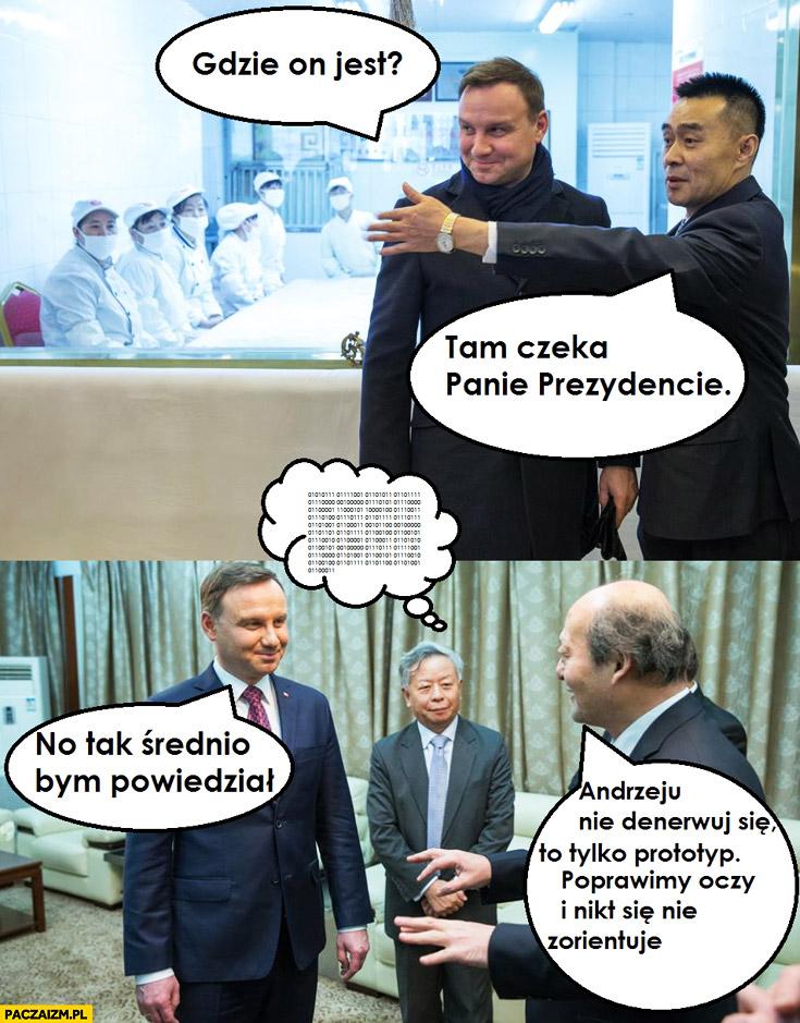 Chiński sobowtór Kaczyńskiego: Gdzie on jest? No tak średnio bym powiedział. Andrzeju nie denerwuj się