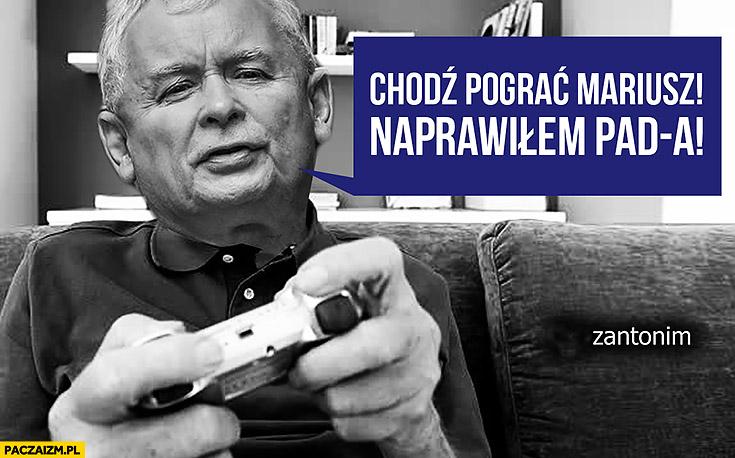 Chodź pograć Mariusz, naprawiłem PAD-a Kaczyński gra na konsoli Duda Błaszczak