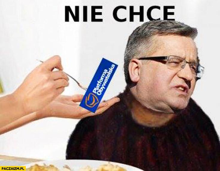 Chorągiewka Platforma Obywatelska nie chcę Bronek Komorowski