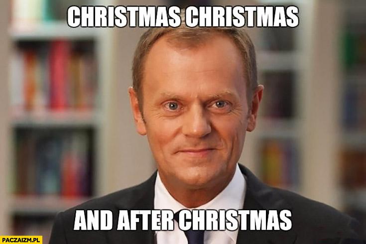 Christmas Christmas and after Christmas angielski z Tuskiem święta i po świętach