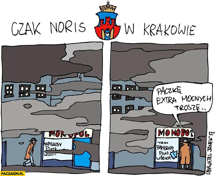 Chuck Norris w Krakowie: paczkę extra mocnych proszę. Papierosy smog Obywatel Janek