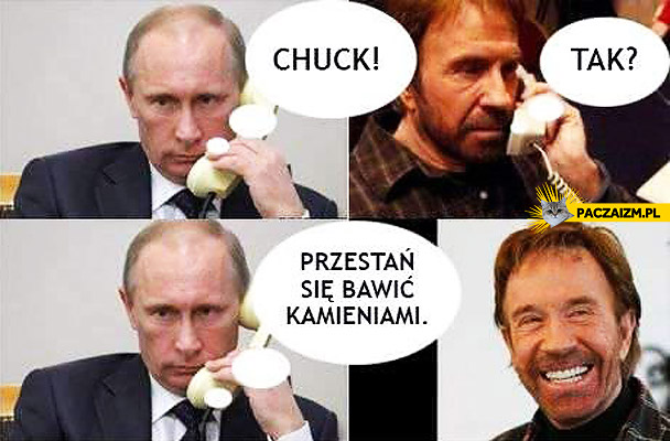 Chuck przestań się bawić kamieniami