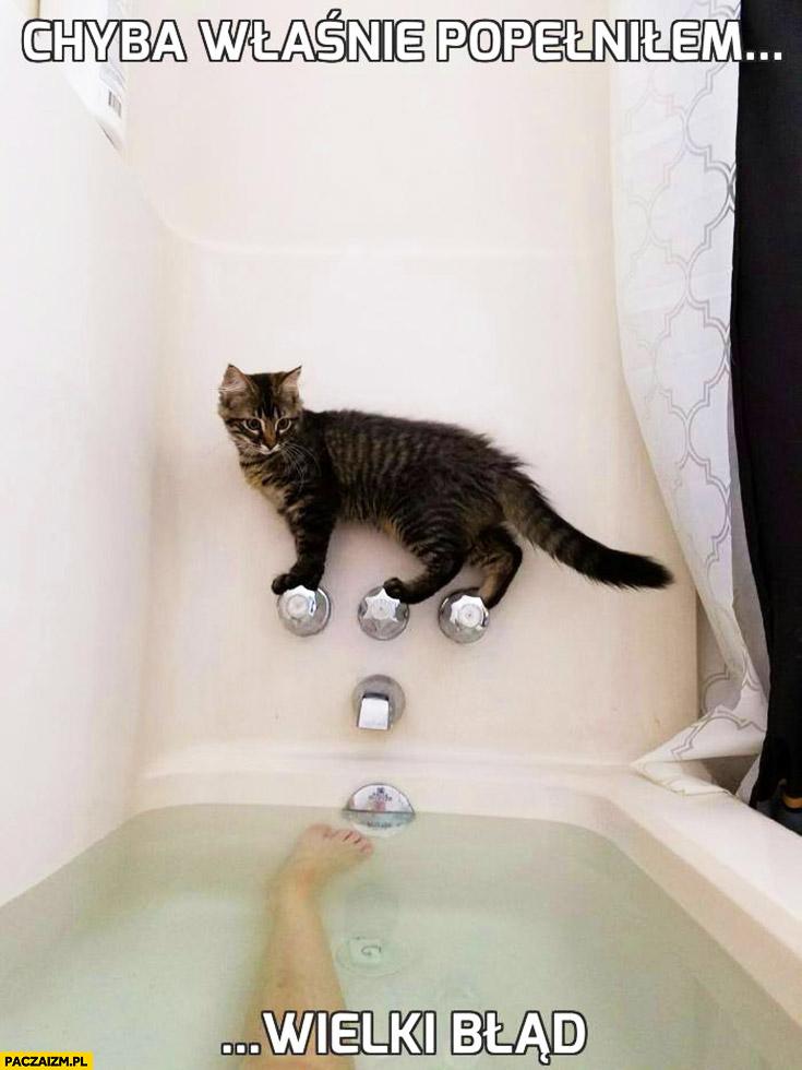 Chyba właśnie popełniłem wielki błąd kot nad wanną bez powrotu