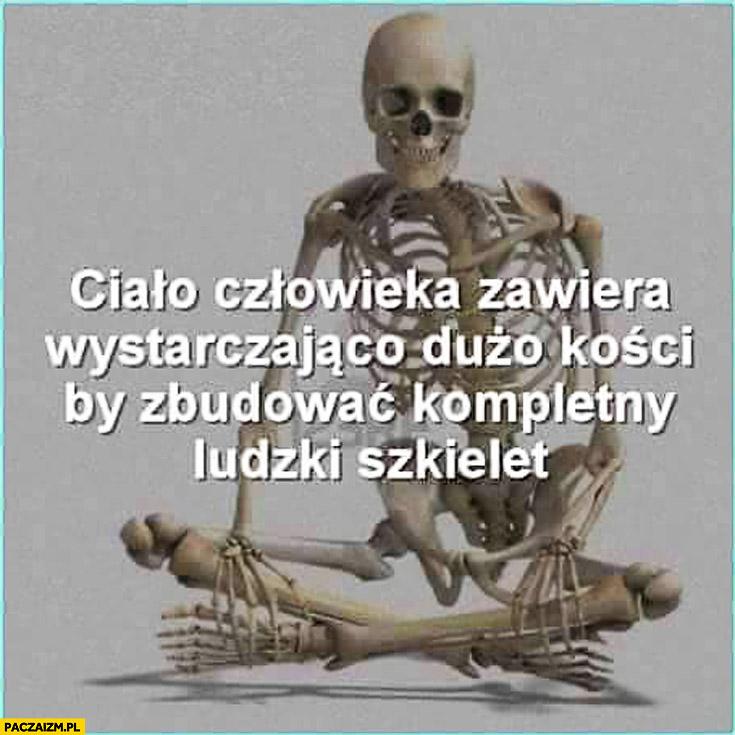 Ciało człowieka zawiera wystarczająco dużo kości by zbudować kompletny ludzki szkielet