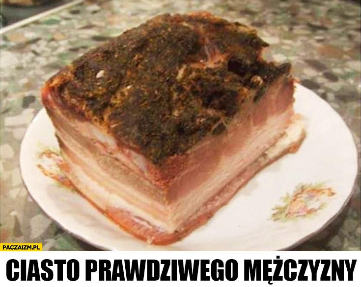 Ciasto prawdziwego mężczyzny mięso stek
