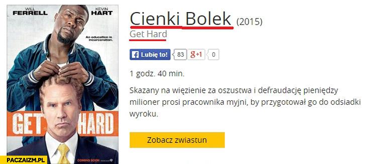 Cienki Bolek Get Hard tłumaczenie tytułu