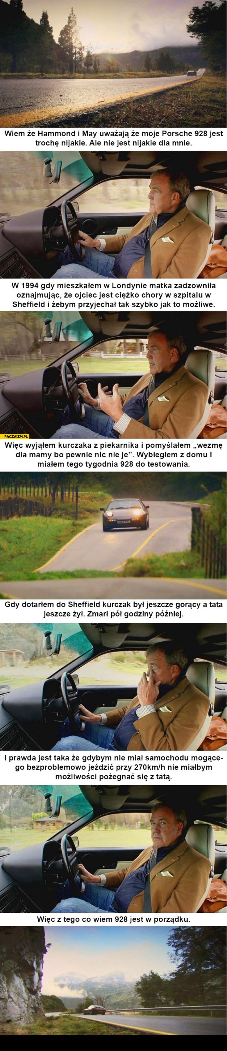 Clarkson o Porsche 928 historia kurczak ojciec