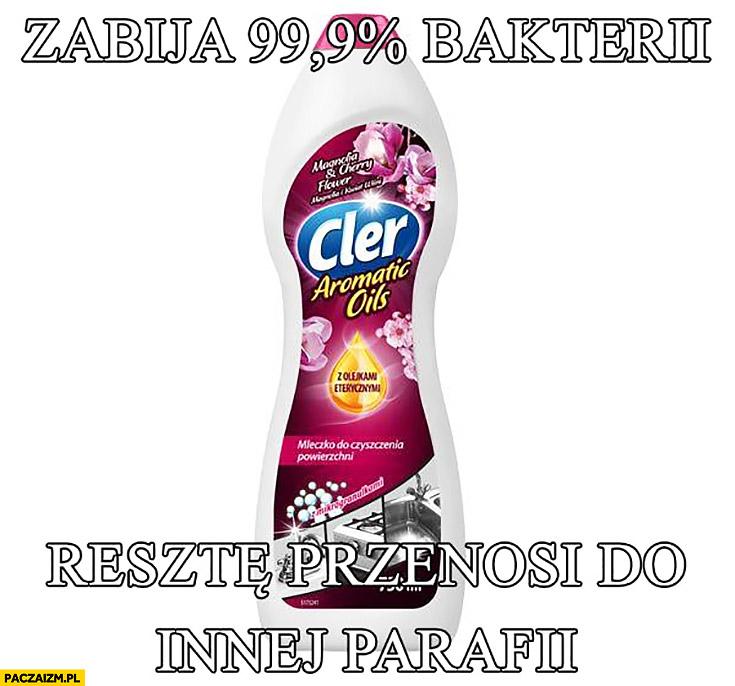 Cler zabija 99% procent bakterii resztę przenosi do innej parafii środek czystości film Kler