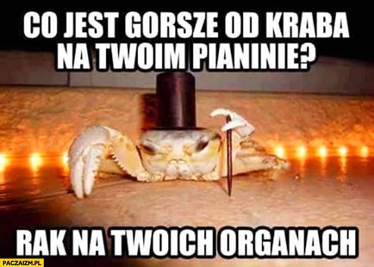 Co jest gorsze od kraba na Twoim pianinie? Rak na Twoich organach