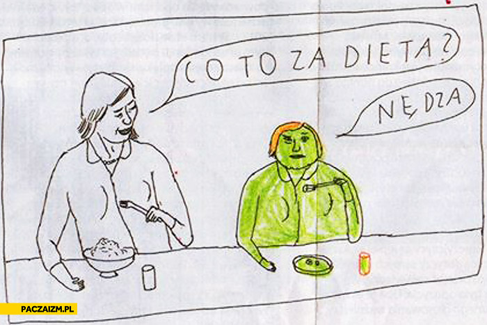 Co to za dieta? Nędza