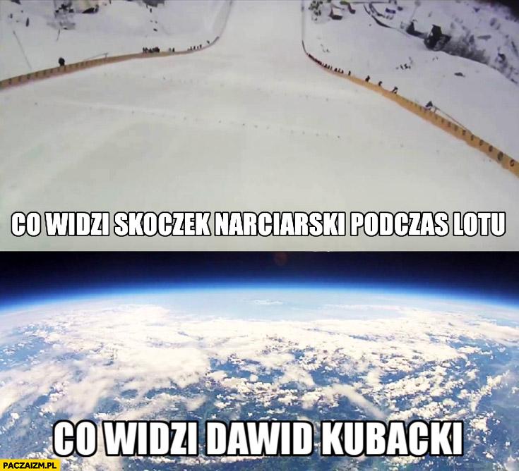 Co widzi skoczek narciarski podczas lotu, co widzi Dawid Kubacki