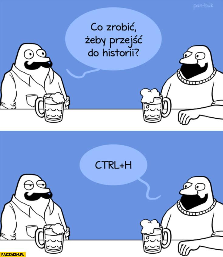 Co zrobić żeby przejść do historii? Wcisnąć ctrl plus H Pan Buk