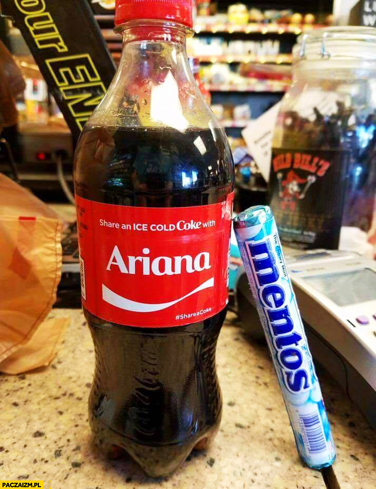 Coca-Cola Ariana + Mentosy zamach w Manchesterze Ariana Grande