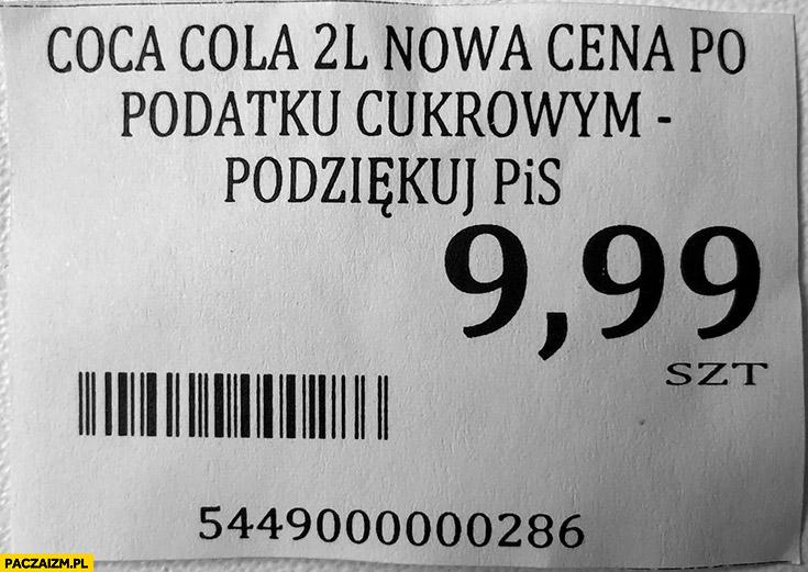 Coca-Cola nowa cena po podatku cukrowym podziękuj PiS