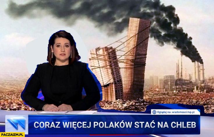 Coraz więcej Polaków stać na chleb pasek Wiadomości TVP