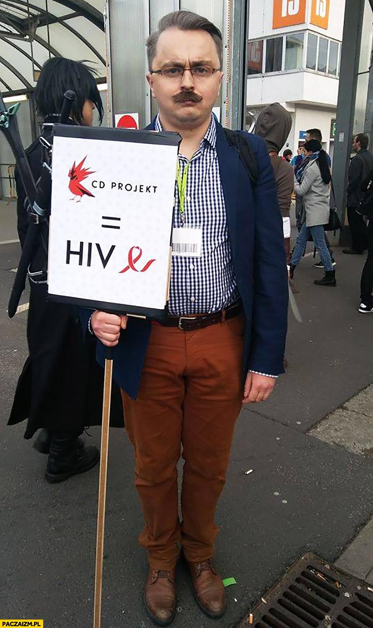 Cosplay Andrzej Sapkowski CD Projekt równa się = HIV