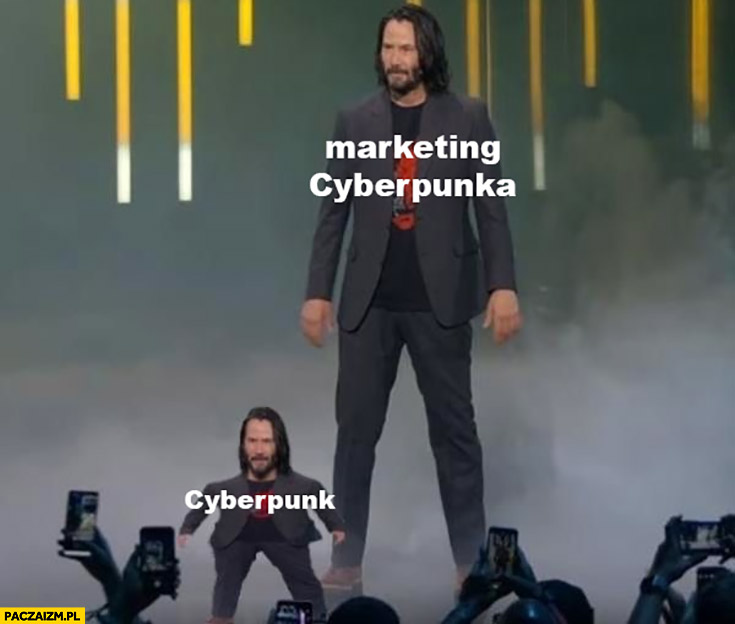 Cyberpunk vs marketing Cyberpunka mały Keanu Reeves