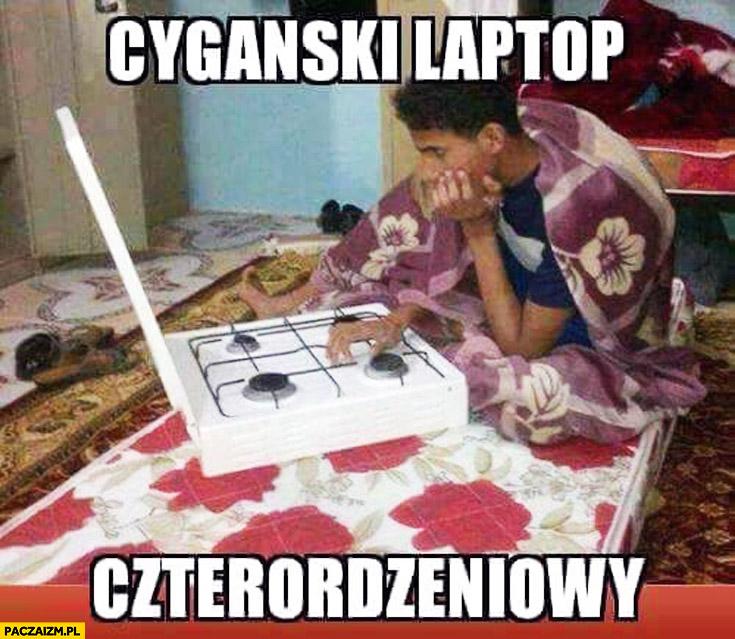 Cygański laptop czterordzeniowy kuchenka gazowa