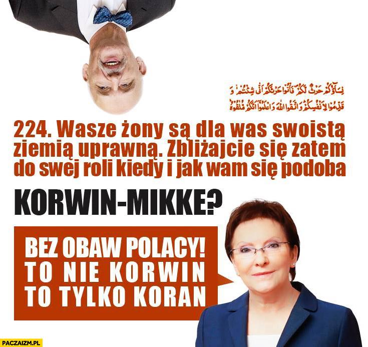 Cytat Korwin-Mikke bez obaw to nie Korwin tylko Koran Ewa Kopacz
