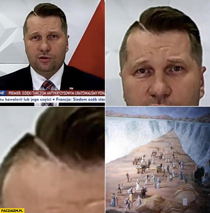 Czarnek fryzura Mojżesz rozstąpienie morza