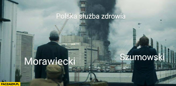 Czarnobyl wybuch Polska służba zdrowia Morawiecki Szumowski oglądają katastrofę