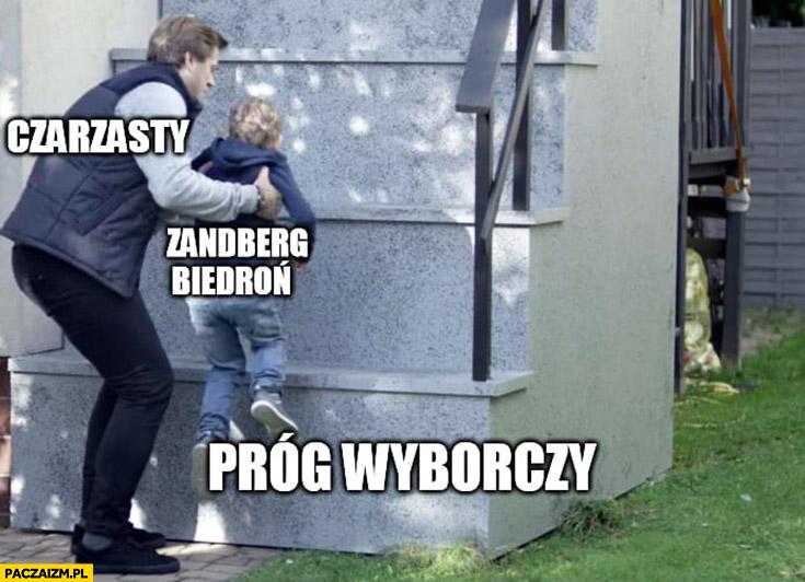 Czarzasty podnosi przenosi Zandberga Biedronia przez próg wyborczy