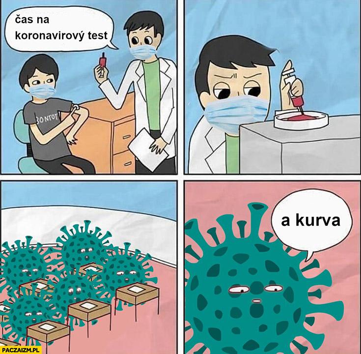 Czas na test koronawirus o kurna czeskie memy komiks