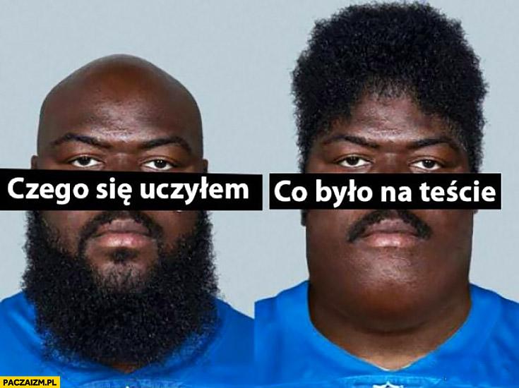 Czego się uczyłem broda, co było na egzaminie teście włosy porównanie