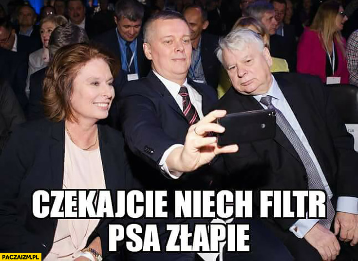 Czekajcie niech filtr psa złapie Siemoniak Kidawa-Błońska PO Platforma Snapchat selfie