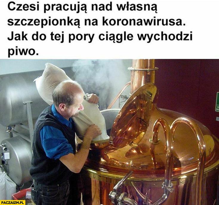 Czesi pracują nad własna szczepionką na koronawirusa jak do tej pory ciągle wychodzi piwo