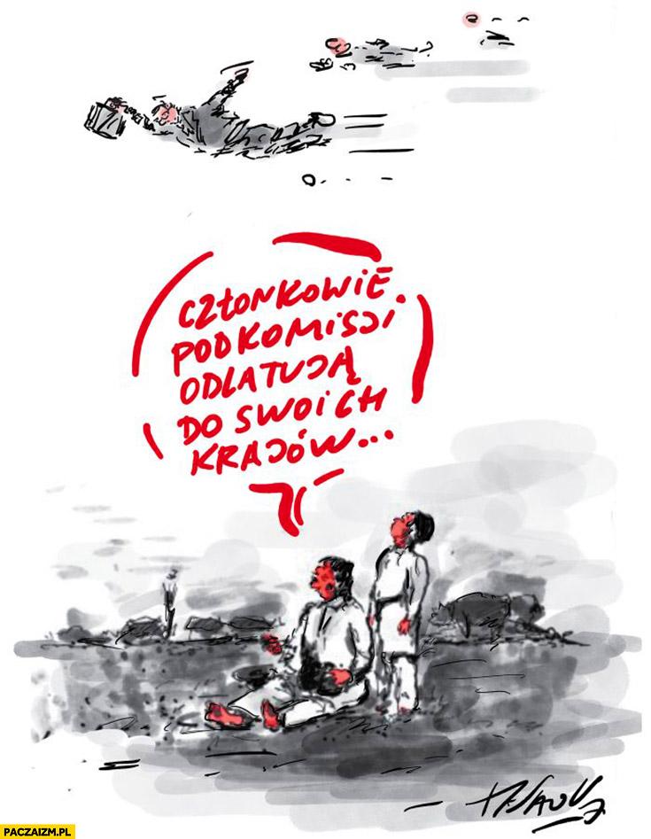 Członkowie komisji odlatują do swoich krajów przeróbka obrazu bociany Chełmońskiego