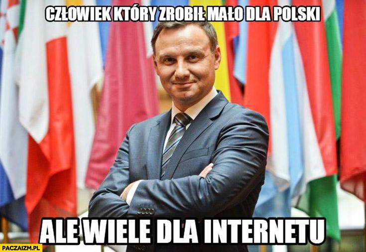 Człowiek, który zrobił mało dla Polski, ale wiele dla internetu. Andrzej Duda memy