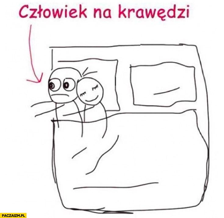 Człowiek na krawędzi łóżka