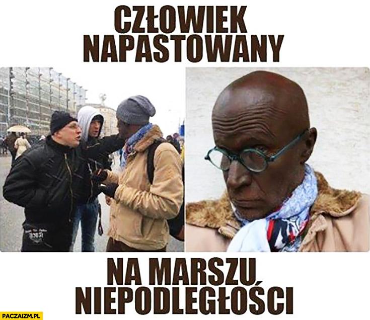 Człowiek napastowany na Marszu Niepodległości przebieraniec z Gazety Wyborczej Agora