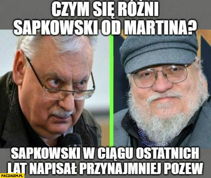 Czym się różni Sapkowski od Martina? W ciągu ostatnich lat napisał przynajmniej pozew