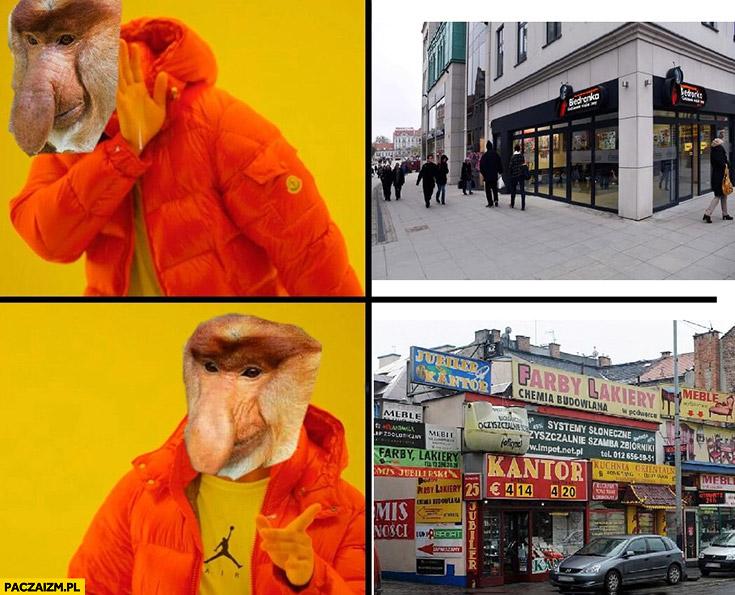 Czysta elewacja nie woli jak są same reklamy typowy Polak nosacz małpa