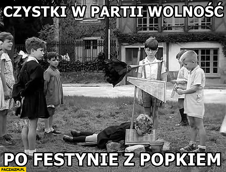 Czystki w partii wolność po festynie z Popkiem dzieci szubienica