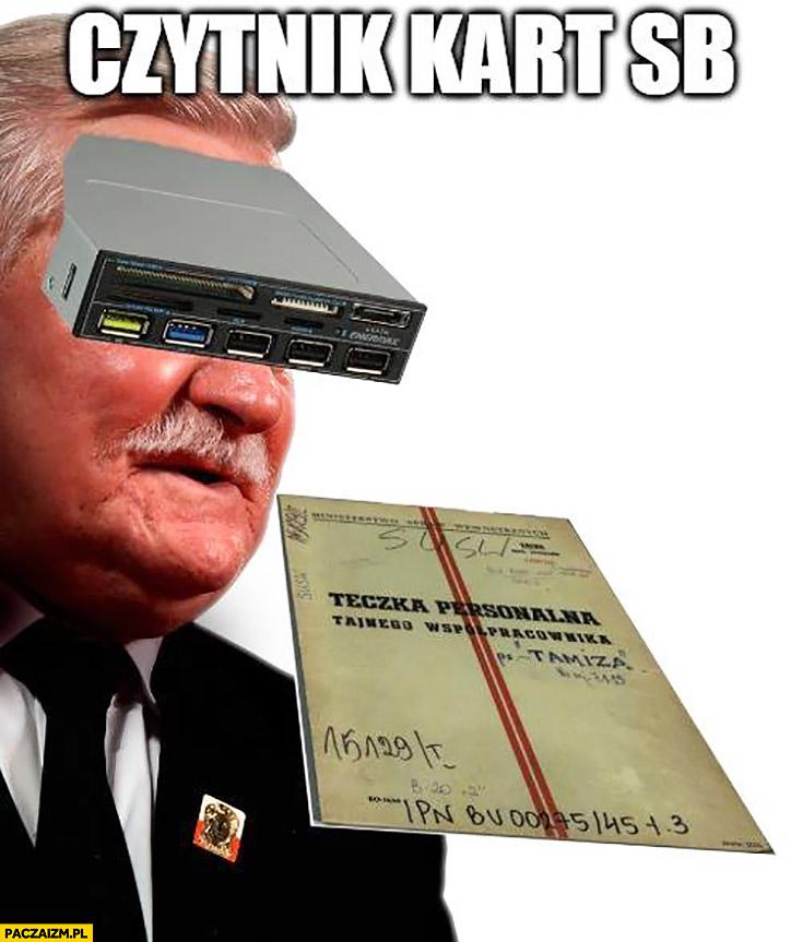 Czytnik kart SB Lech Wałęsa teczka personalna agent TW Bolek
