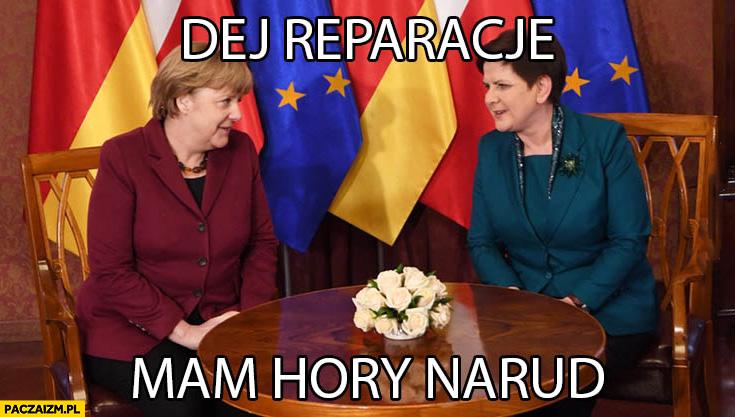 Daj reparacje, mam chory naród. Beata Szydło u Angeli Merkel