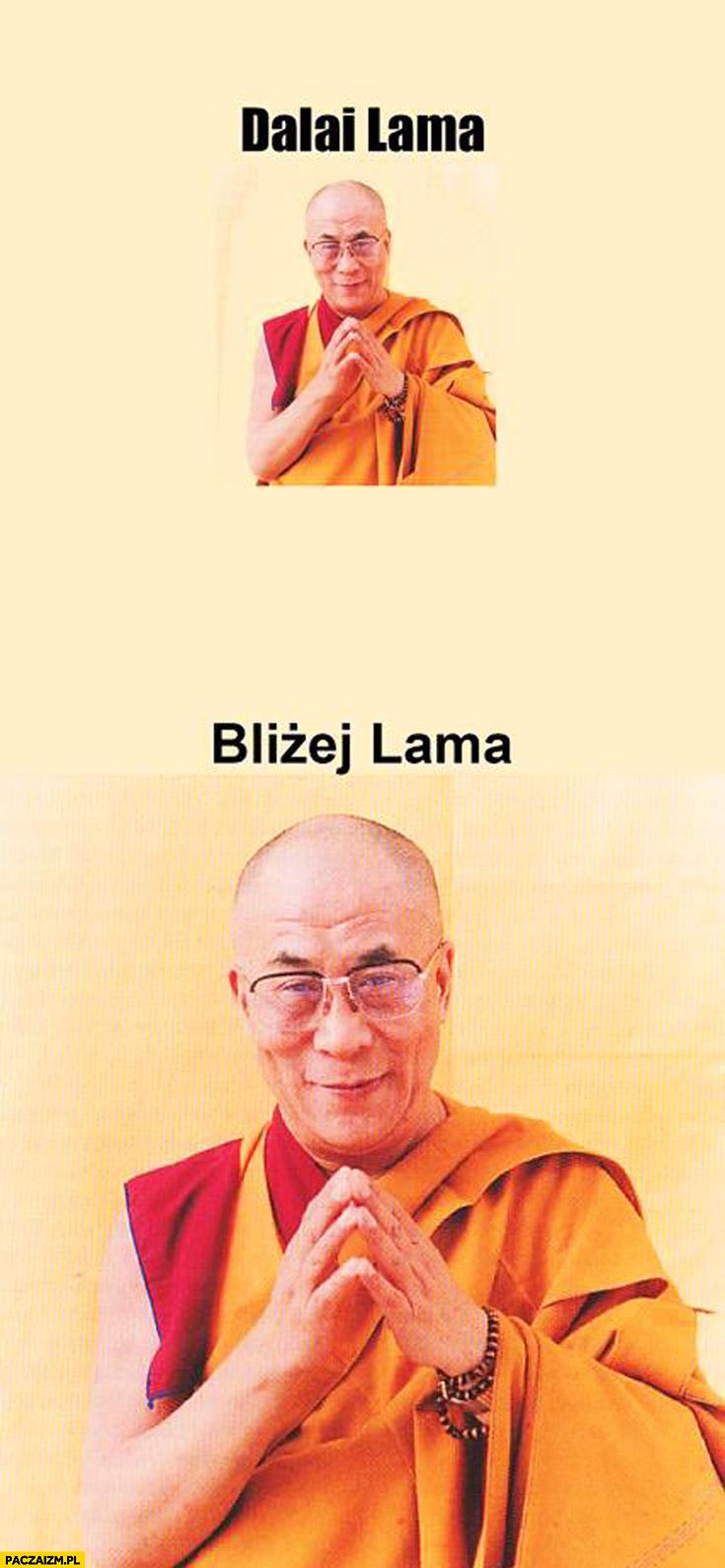Dalai lama bliżej lama
